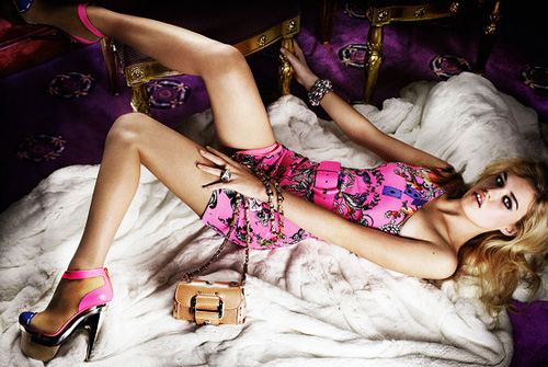 Georgia May Jagger for Versace S/S 2010