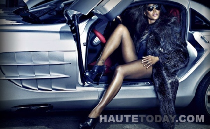 Naomi Campbell in Dennis Basso Fall 2011 Campaign