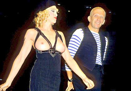 Topless Madonna walks Gaultier's runway show