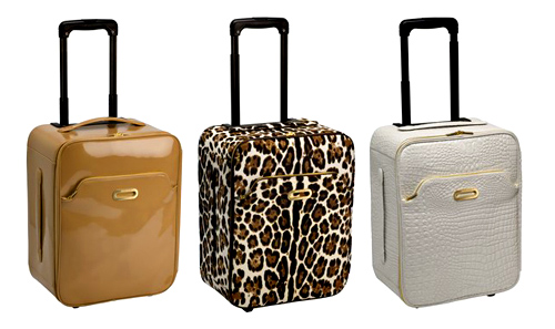 Whether you choose Terence in nude patent, leopard printed pony or white mock croc, these bags will ensure you travel in style