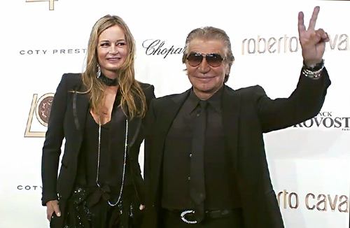 Eva and Roberto Cavalli at the 40th Anniversary Celebration