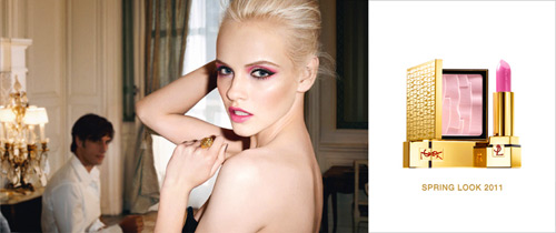 Ginta Lapina - the face of YSL Beauté Spring 2011