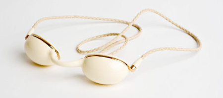 TF Tanning Goggles in Ivory