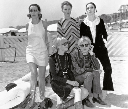 Andy Warhol & his Cannes entourage