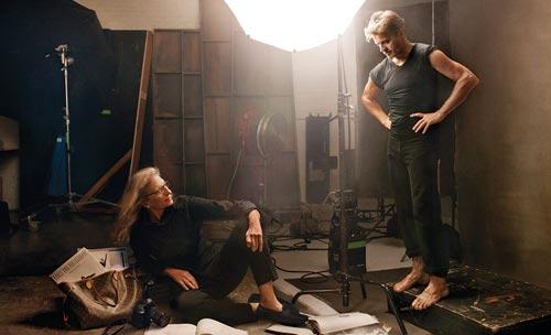 Annie Leibovitz and Mikhail Baryshnikov