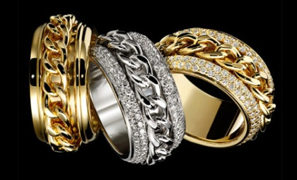Piaget Possession classique chain motif rings