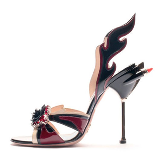 haute today prada ss 12 flame shoes 4 haute today. Black Bedroom Furniture Sets. Home Design Ideas