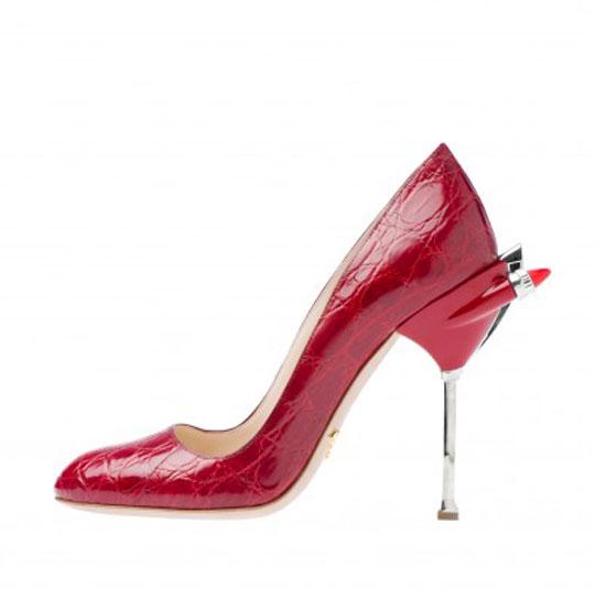 prada red heels