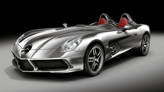 Kanye west drives the slr stirling moss in cannes haute for Garage mercedes cannes