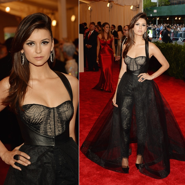 Nina Dobrev in Monique Lhuillier