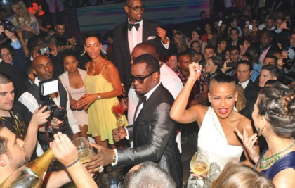 P. Diddy and Cassie at Gotha, Cannes.