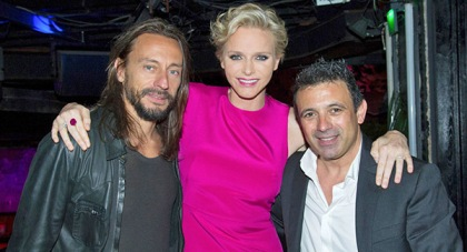 Bob Sinclair and Princess Charlene of Monaco at Jimmy'z, Monte-Carlo
