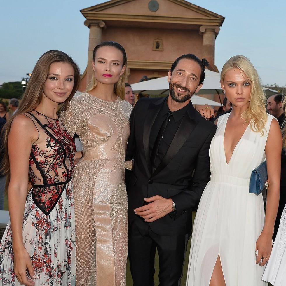 Adrien Brody, Natasha Poly at Leonardo DiCaprio Foundation Gala in St Tropez