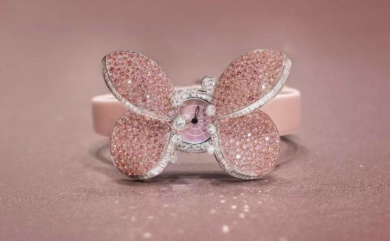 Haute-Today-Graff-Princess-Butterfly-Watch-Pink