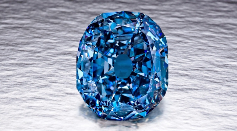 The flawless blue diamond Wittelsbach Graff
