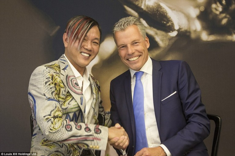 Stephen Hung with Rolls-Royce CEO Torsten Mueller-Oetvoes at Goodwood, England